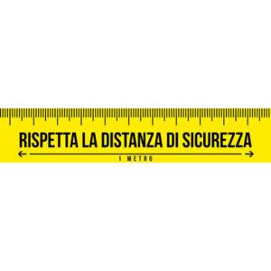 Striscia Adesiva - Metro Sarta - Rispetta la distanza di sicurezza