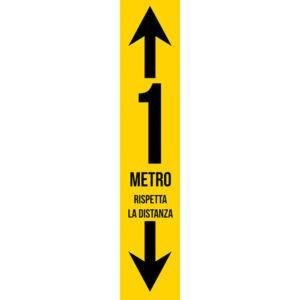 Striscia adesiva - 1m - Rispetta la distanza