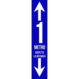 Striscia Adesiva - 1m - Rispetti la distanza - Blu