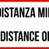 Striscia Adesiva Bilinque – Mantenere la distanza minima di 1 metro – Keep the distance of 1 meter